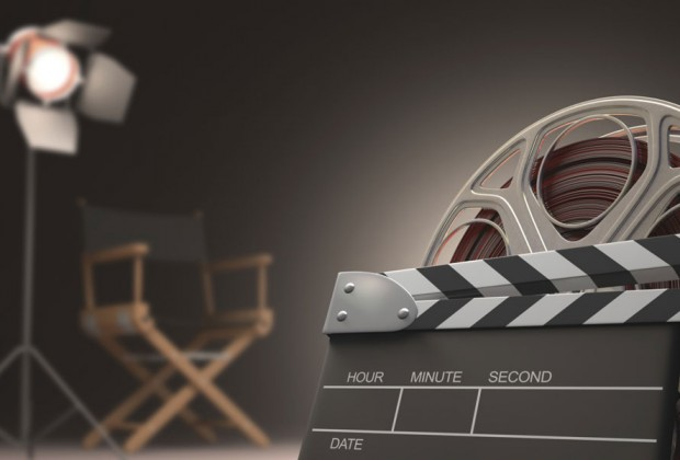 Film reel, director's chair, clapper board and lighting. Image: Thinkstock