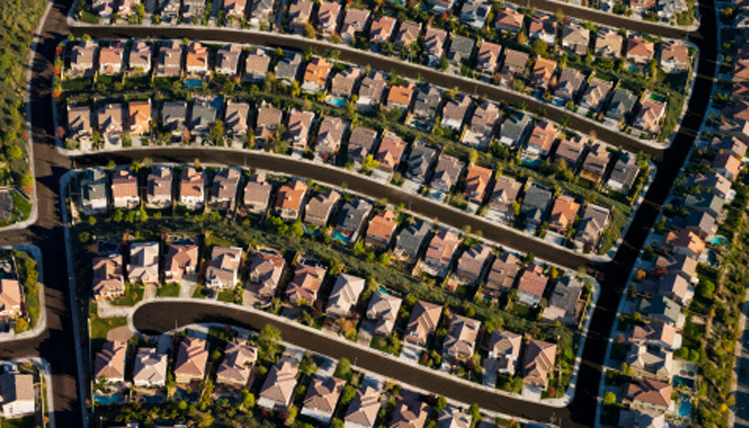 Aerial view of housing estate. Image: Thinkstock