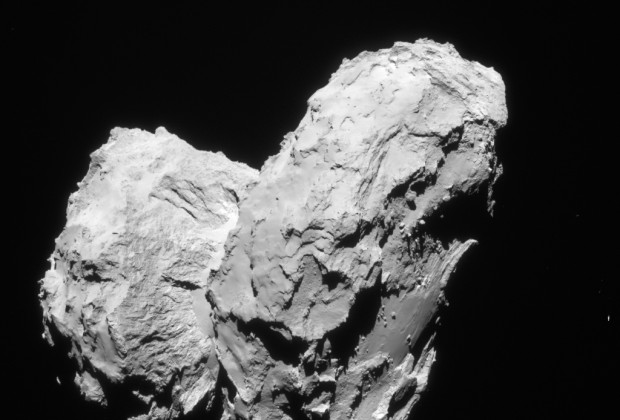 Two comets collided at low speed in the early Solar System to give rise to the distinctive 'rubber duck' shape of Comet 67P/Churyumov–Gerasimenko.