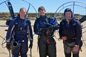 Simon Reeve (centre) in Bannow Bay. Image credit: BBC Two, 2015