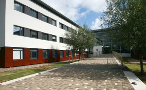 The Open University's Michael Young Building in Milton Keynes