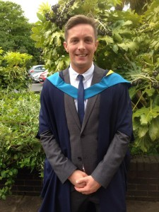 Adam Prestwood graduated with a 2:1