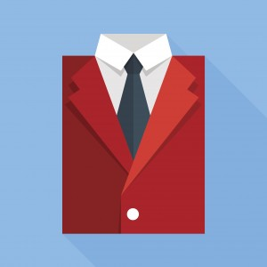 Red business suit. Image credit: Thinkstock