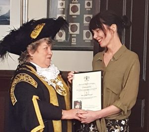 Gina Awad and the Lord Mayor of Exeter, Councillor Olwen Foggin