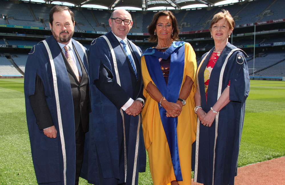 From left are John Addy, John D'Arcy, Sheila Coleman and Heather Laird.