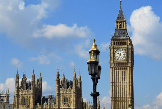 Big Ben and Houses of Parliament in London, England