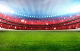 Floodlit rugby stadium. Image credit: Thinkstock