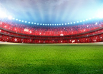 Floodlit rugby stadium. Image credit: Thinkstock