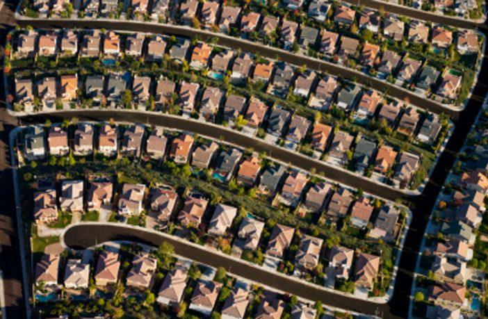 Aerial view of housing estate. Image: Thinkstock