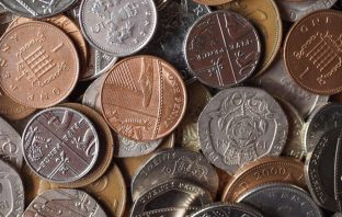 Photograph of coins