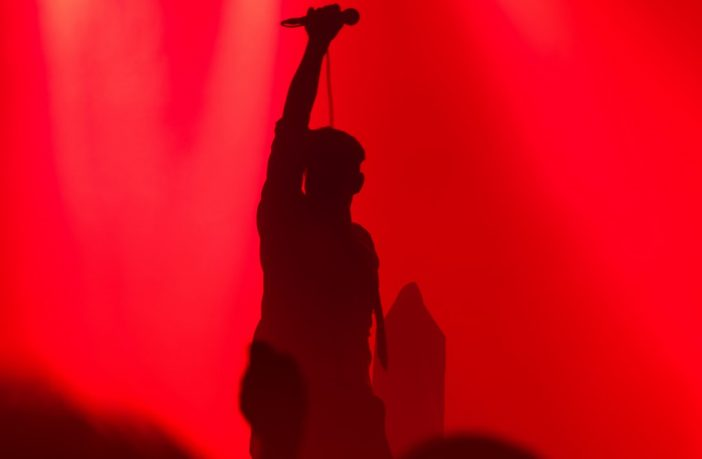 Musician silhouette on Stage