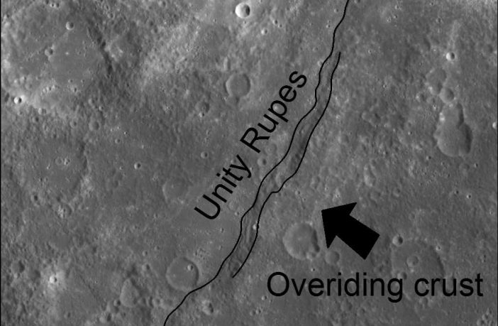 Unity scarp on Mercury