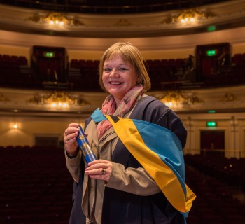 Social worker Emma Govan at The Open University Degree Ceremony at Edinburgh's Usher Hall