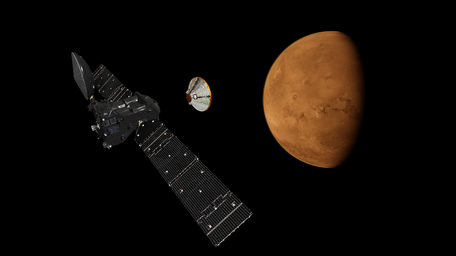 ExoMars Mission 2016, EDM and TGO separation