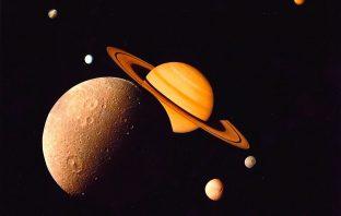 Saturn family image by NASA