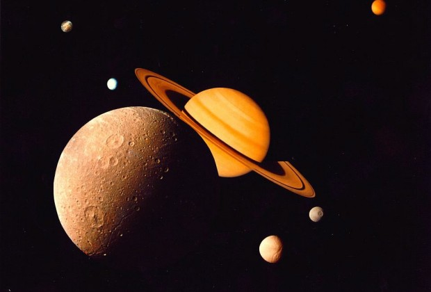 Saturn family image by NASA