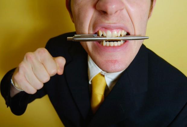Agressive job interview candidate. Image credit: Thinkstock