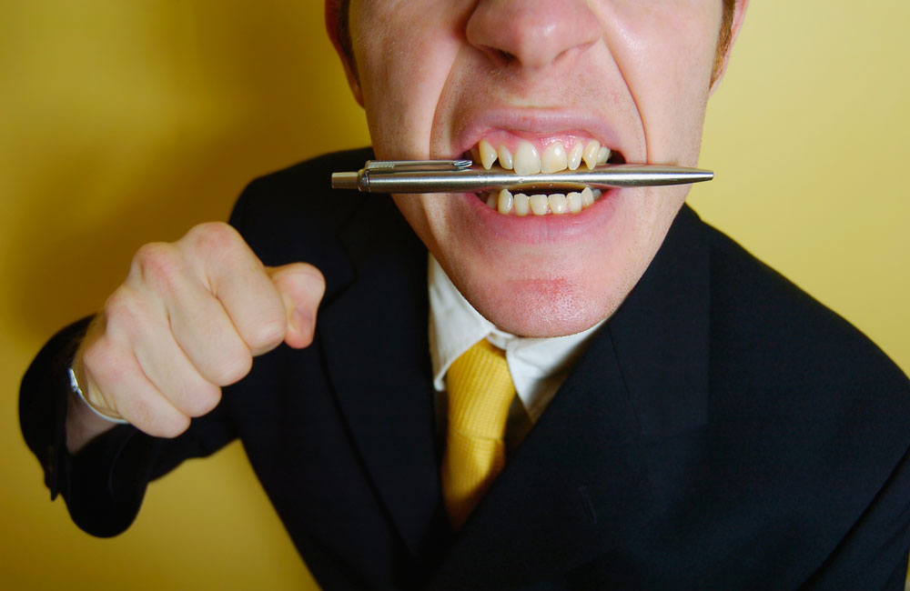Agressive job interview candidate. Image credit: Thinkstock