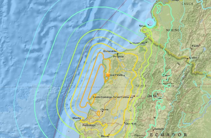 Ecuador Earthquake map