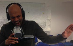 Dr Manish Patel in the recording studio.