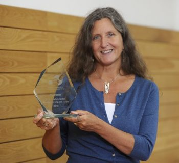 Professor Jacqui Gabb with her research impact award