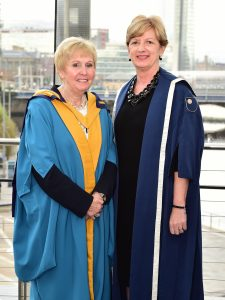 Catherine Bell, Master of the University and Heather Laird, Assistant Director of The Open University in Ireland