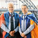 Prof Mark Fenton O'Creevy with Dr Etienne Wenger-Trayner at the Gateshead Ceremony