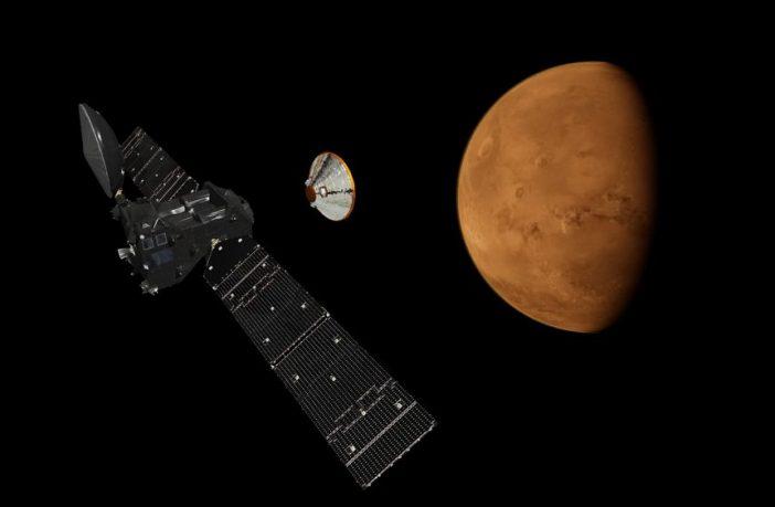 ExoMars Schiaparelli Lander simulation on Mars