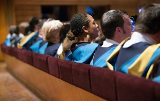 Graduates at a degree ceremony