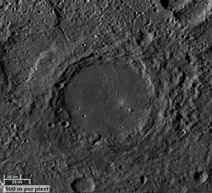 'Heaney' 120km diameter crater on Mercury