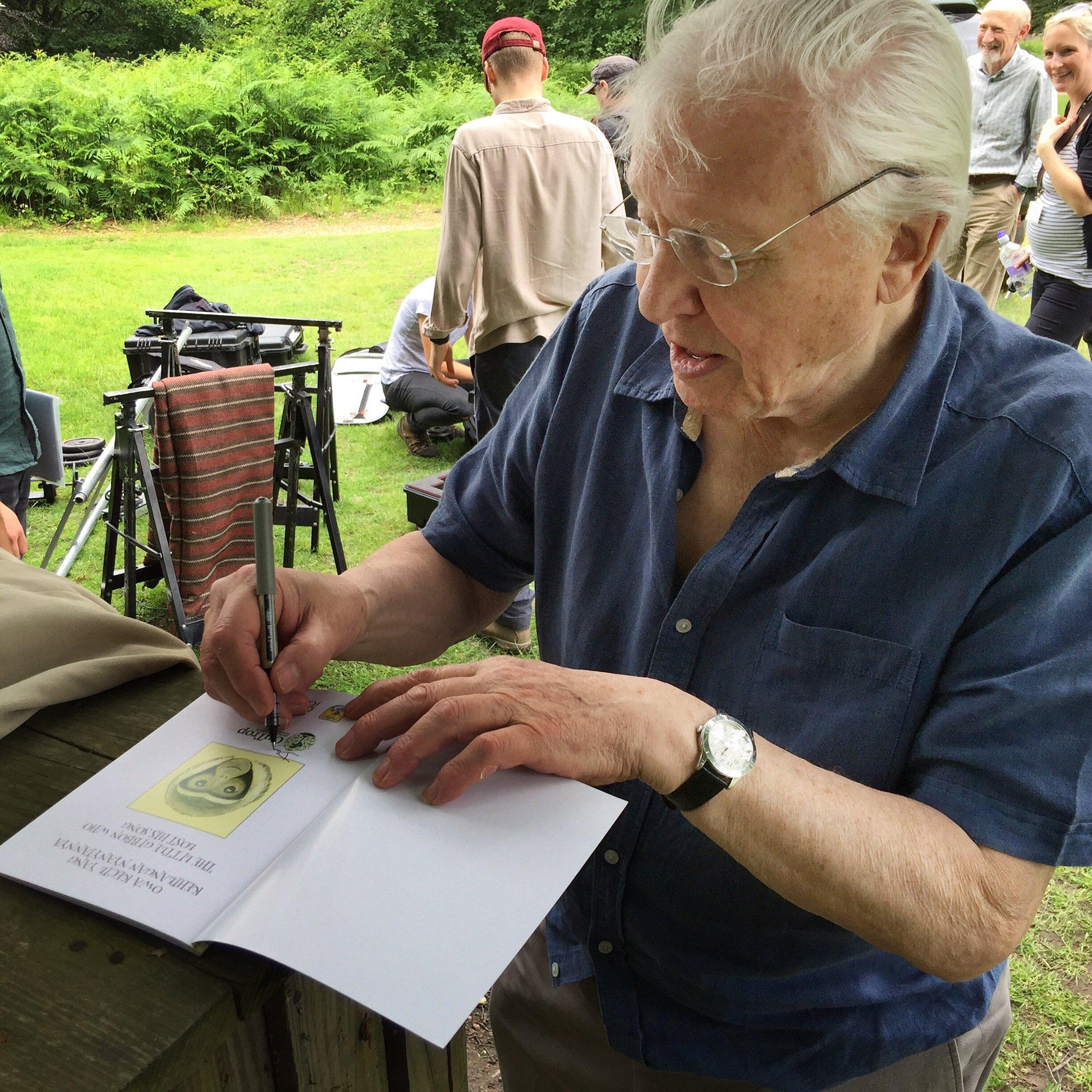 Meeting her inspiration David Attenborough