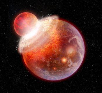 Colliding planet