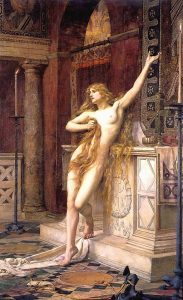 Painting of Hypatia by Charles William Mitchell, 1885