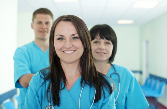 Three student nurses