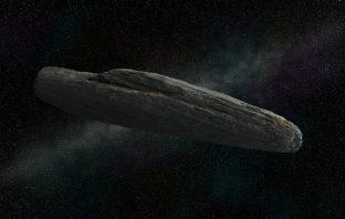 A CGI of Oumuamua