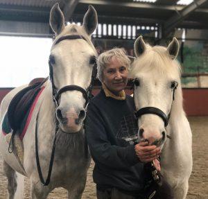 Sister Mary Joy with horses