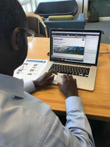 Minister Sam Gyimah views the MK-based Mars site