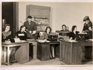 Evelyn pictured working for American Occupation Forces