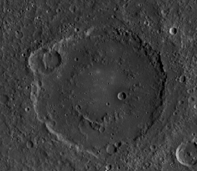 The Holst impact crater on the Planet Mercury