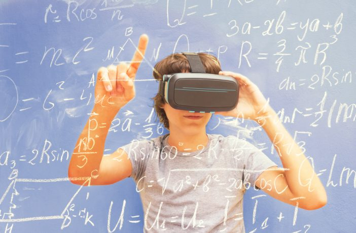 Teenager with Virtual Reality headset