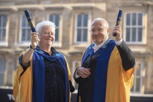 Val McDermid and Educational Psychologist Graham Cameron