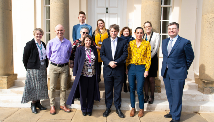 Chris Skidmore and Iain Stewart meet OU staff and students