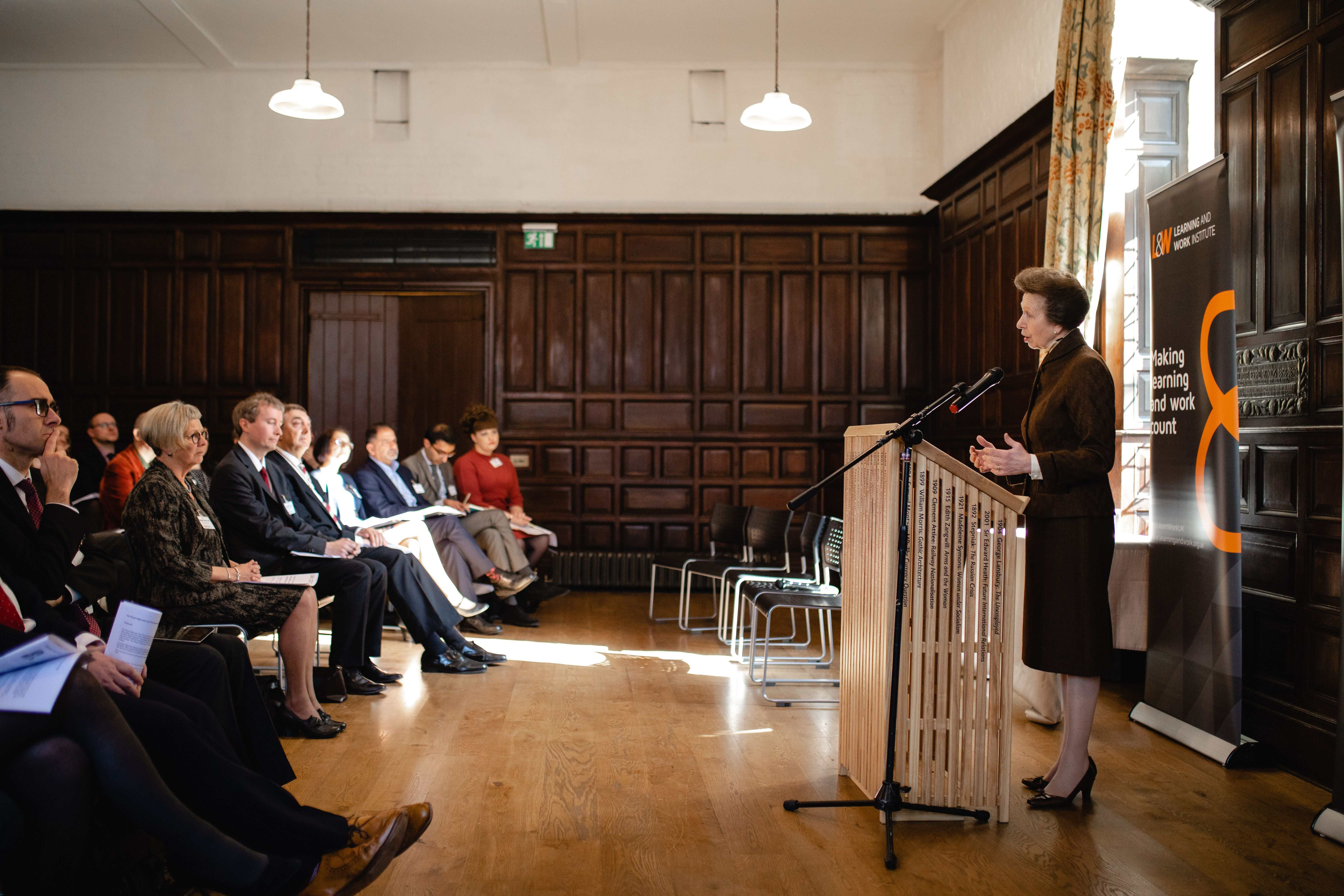 HRH Princess Anne addresses the Youth Commission Conference