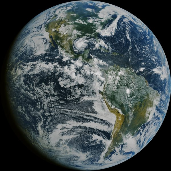 Photograph of An image of the whole earth from space.