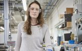 Hannah Sargeant in her lab
