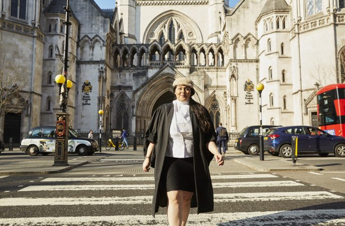 Zahra Alidina at the Royal Courts of Justice