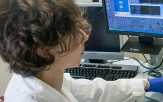 Researcher at a computer