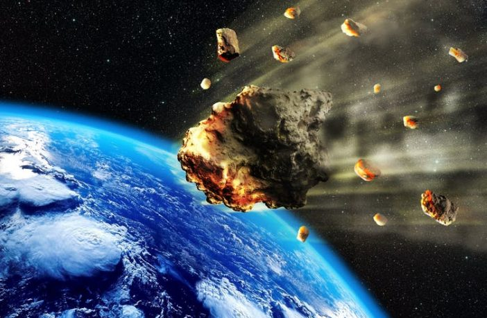 Asteroids heading towards earth