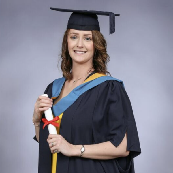 Emma Charlick at her graduation ceremony