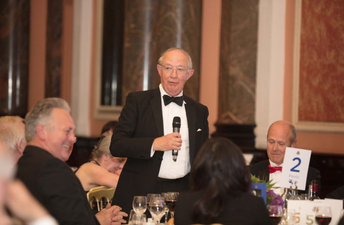 Sir Christopher Coville speaking at a dinner
